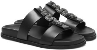 Valentino Maison Snake embellished leather sandals