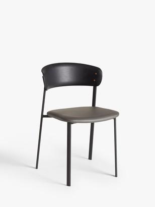 John Lewis & Partners Contour Dining Chair, Black/Grey