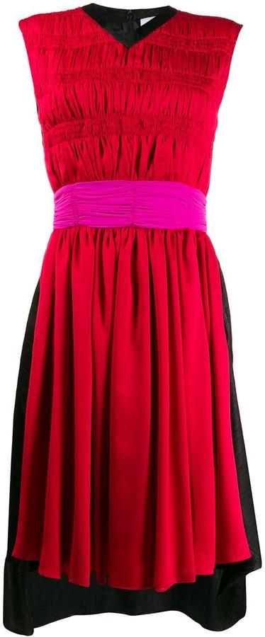 Koché Pleated Midi Dress