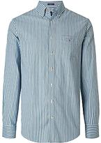 Gant Heather Oxford Stripe Shirt, Ivy Green