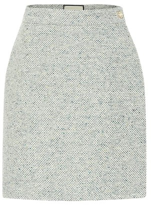 Gucci Cotton-blend tweed miniskirt