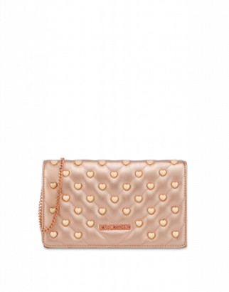 Love Moschino Evening Bag With Heart Studs Woman Pink Size U It - (one Size Us)