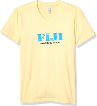 Marky G Apparel Men's Fiji Graphic Sueded V-Neck T-Shirt