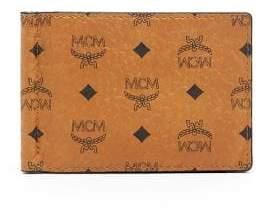 MCM Claus Coated Canvas Money Clip Wallet
