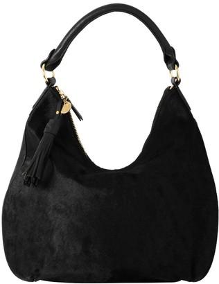 Vash Draco Hobo Bag In Black Hide