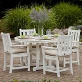 Polywood Traditional Garden 5 Piece Dining Set Color: White