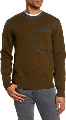 Acyclic Contrast Seam Slim Fit Sweater