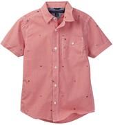 Tommy Hilfiger Charlie Short Sleeve Poplin Shirt (Big Boys)