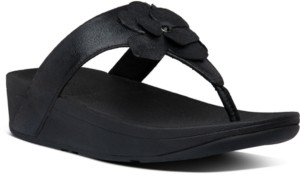 FitFlop Lottie Corsage Suede Thong Sandals Women's Shoes