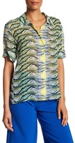 Nicole Miller Collared Pattern Shirt