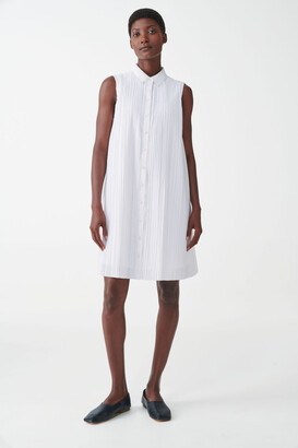 Cos Sleeveless Pleated Shirt Dress