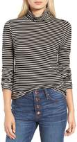 J.Crew J. CREW Stripe Tissue Turtleneck Tee