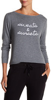 Betsey Johnson Sweats & Sunsets Lightweight Pullover