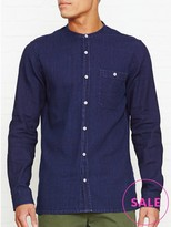 Whistles Collarless Indigo Shirt