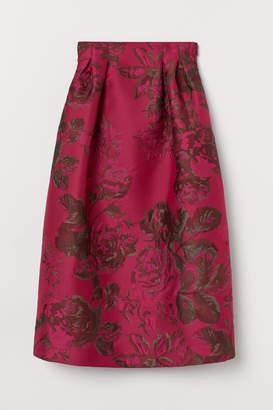H&M Brocade-patterned Formal Skirt - Pink