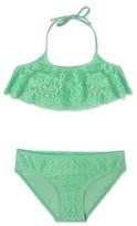 Gossip Girl Girl's Ruffle Two-Piece Swimsuit