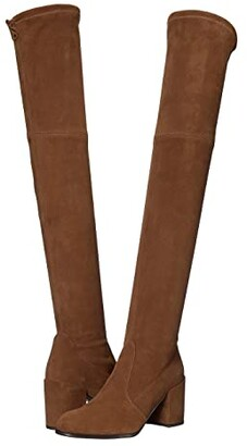 Stuart Weitzman Tieland Over the Knee Boot (Coffee Suede Stretch) Women's Shoes