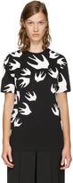 McQ Black and White Swallows T-shirt