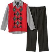 Van Heusen Boys 4-7 Sweater Vest, Shirt & Dress Pants Set