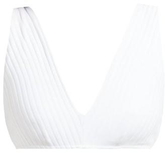 Araks Una Ribbed Bikini Top - White