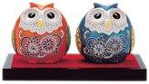 Ino Seimine Kutani Owl ( Owl ) pair Sheng 2.8 No. boxed N75-04