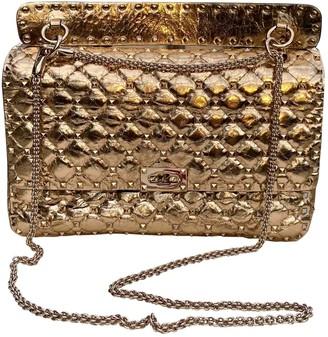 Valentino Rockstud spike Metallic Leather Handbags