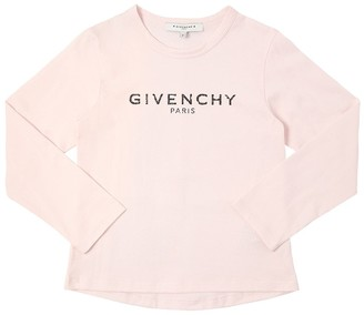 Givenchy Logo Printed Cotton Jersey T-Shirt