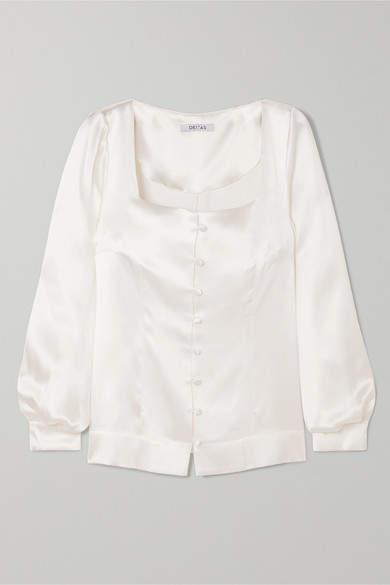 6c6271ee09b Silk Satin Blouse - ShopStyle