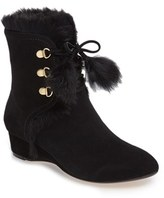 Taryn Rose Women's Forsters Genuine Rabbit Fur Bootie