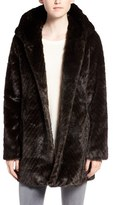Sam Edelman Women's Hooded Faux Fur Coat