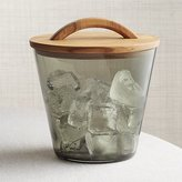 Crate & Barrel Arlo Smoke Glass Ice Bucket