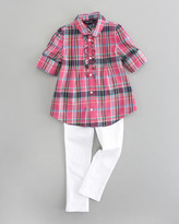 Ralph Lauren Plaid Tunic Top