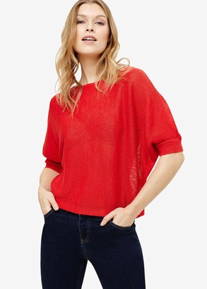 Phase Eight Delmi Linen Batwing Knit Top