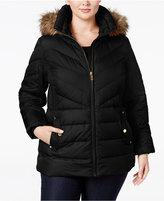 MICHAEL Michael Kors Size Faux-Fur-Trim Down Puffer Coat