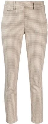 Dondup Check Print Slim-Fit Trousers