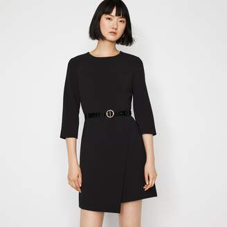 Warehouse 3/4 SLEEVE WRAP DRESS