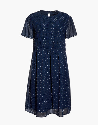Madewell Georgette Smock-Top Mini Dress in Polka Dot