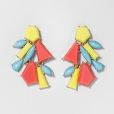 BaubleBar SUGARFIX by Tricolor Geometric Drop Earrings - Yellow
