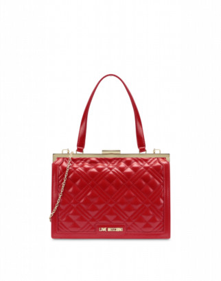 Love Moschino Quilted Handbag Woman Red Size U It - (one Size Us)