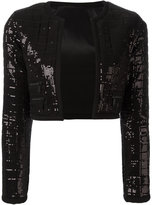 Karl Lagerfeld sequinned cropped jacket - women - Polyester/Spandex/Elastane/Viscose - 34