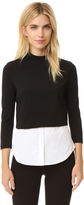 Theory Gracila Knit Shirttail Top