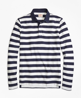 Brooks Brothers Long-Sleeve Striped Rugby Shirt