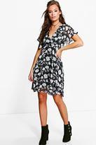 boohoo Monique Floral Printed Tea Dress