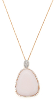 Meira T 14K Rose Gold, Pink Opal & 0.62 Total Ct. Pave Diamond Pendant Necklace