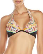 Trina Turk Nepal Banded Halter Bikini Top