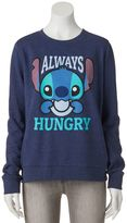 "Disney Disney's Juniors' Lilo & Stitch ""Always Hungry"" Graphic Sweatshirt"