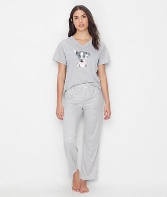 ED Ellen Degeneres Don't Stop Dreaming Knit Pajama Set