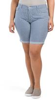 Plus Made In USA Brianna Denim Shorts