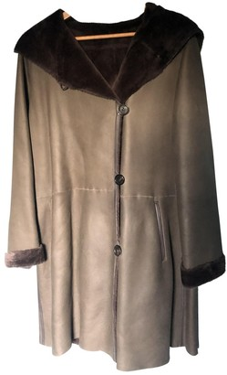 Yves Salomon Brown Shearling Coat for Women Vintage