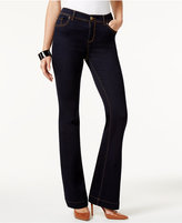 INC International Concepts Curvy-Fit Dark Blue Wash Flared Jeans, Only at Macy's